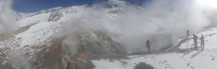панорама вулкана