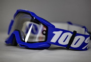 Очки для мотокросса 100% Accuri Enduro Reflex Blue Clear Dual Lens